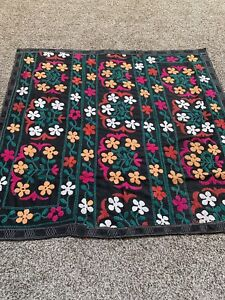 Antique Vintage Tajik Wall Decor Original Handmade Emroidery Tablecloth Suzani