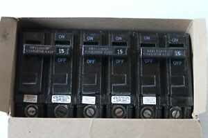 4 Ge General Electric 2 Pole 120 240v Circuit Breakers Thql2115 15 Amp Nos