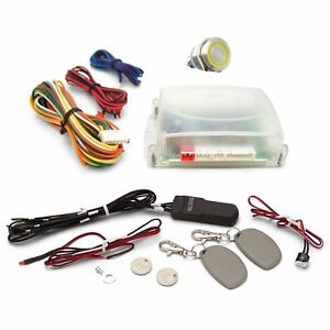 One Touch Engine Start Kit With Rfid Yellow Illuminated Button Parts Front