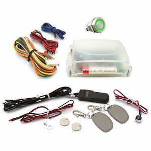 One Touch Engine Start Kit With Rfid Green Illuminated Button Parts Front