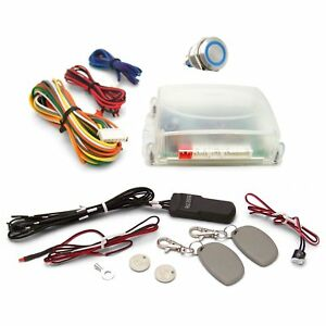 One Touch Engine Start Kit With Rfid Blue Illuminated Button Suspension Parts