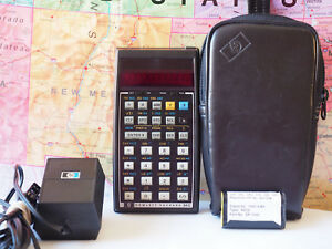 Hewlett Packard Hp 34c Calculator W Charger New Battery Works Tested