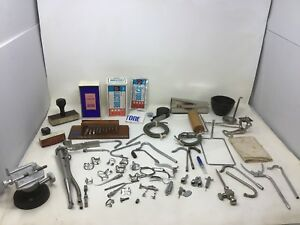 Large Lot Dental Tools Instruments Dudley Research Impactor Drill Parts Vintage