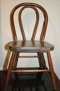 Real Antique Bentwood Child S Chair Sturdy 21 Tall Or Use As A Doll Chair