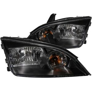 Anzo 2005 2007 Ford Focus Crystal Headlights Black Anz121229