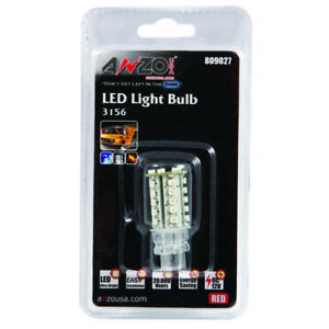 Anzo Led Bulbs Universal 3156 3157 Red Anz809027