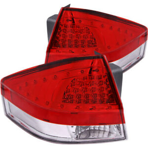 Anzo For 2008 2011 Ford For Focus Led Taillights Red Clear Anz321197