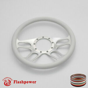 15 5 Billet Steering Wheel White Half Wrap Replacement Buick Gmc Gto