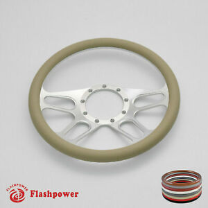 15 5 Billet Steering Wheel Tan Half Wrap Replacement Buick Gmc Gto