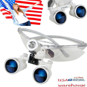 Us Ship Dental Surgical Medical Binocular Loupes 3 5x 420mm Optical Glass Loupe
