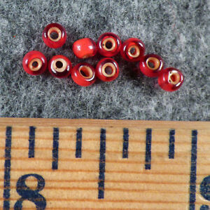 Original Sioux Indian Cherry Red White Heart Trade Beads Venetians 1700 S