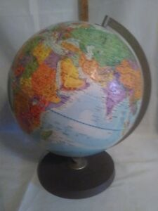 Vintage 12 Replogle Stereo Relief Globe Late 1960 S Made In Usa