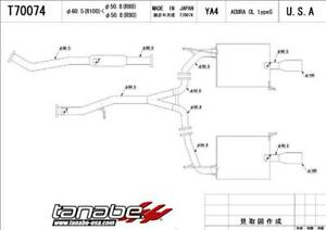 Tanabe Medallion Touring Dual Muffler Catback Exhaust 02 03 Cl Type S Tant7007