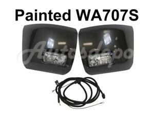 Painted Wa707s Front Bumper End Cap Fog Light Harness For Silverado 1500 2010 12