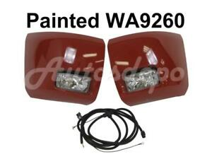 Painted Wa9260 Front Bumper End Cap Fog Light Harness For Silverado 1500 2008 13