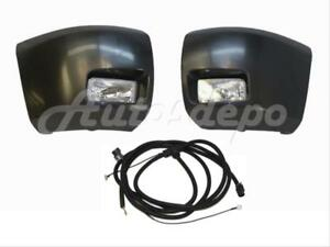 Front Bumper Raw Black End Cap Fog Light Harness For Silverado 1500 2007 2013