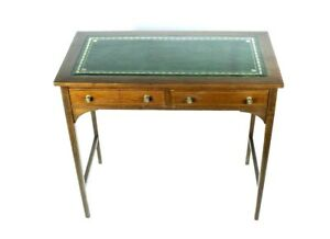 Antique English Leather Top Mahogany Hall Table Free Shipping Pl4796
