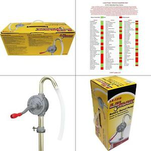 Gasoline Hand Pump Transfer Rotary Diesel Fuel Farm Kerosene Water Petroleum