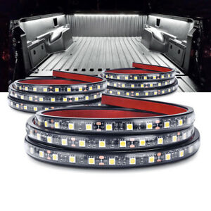 3x 60 Led Truck Bed Lights White Cargo Van Strip Lamp For Ford Chevy Waterproof