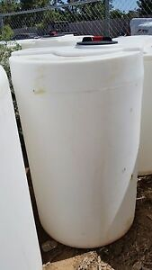 200 Gallon White Vertical Poly Tank container 34 x55 water Or Chemical