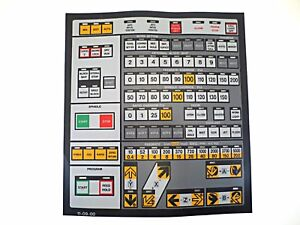 Cnc Machine Keypad Replacement Membrane overlay 11 09 00 Nos
