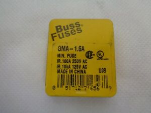 New Pack Of 5 Bussmann Gma 1 6a 1 6amp Fuse