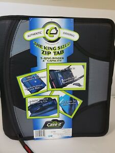 Case it 1590356 Zipper Binder With 5 Tab Files 4 In Black Free Shipping