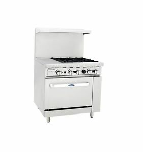 New Heavy 36 Range 12 Griddle 4 Burners 1 Full Oven Stove Natural Gas Only