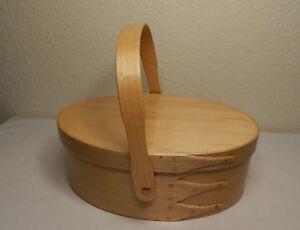 Shaker Style Box Swing Handle Maple Wood Unstained No 4