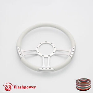 15 5 Billet Steering Wheel White Half Wrap Gto Firebird
