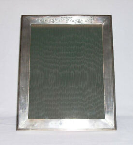 William Kerr Co Antique Sterling Silver Easel Back Picture Frame 11 25 X9
