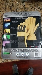 Hestra 2 Pr Premium Goatskin Leather Work Gloves Lg Thinsulate Lining Waterproof