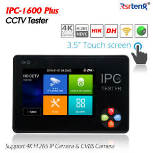 3 5 Inch Touch Screen Hd Cctv Ip Cvbs Camera Tester H 265 4k Wifi Ipc 1600plus