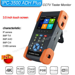 3 5in Cctv Cvi Tvi Ahd Cvbs Ip 5in1 Camera Tester H 265 4k Wifi Ip