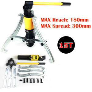 15 Ton Hydraulic Gear Wheel Bearing Puller Separator Tool Car Repair 3 Jaw Box
