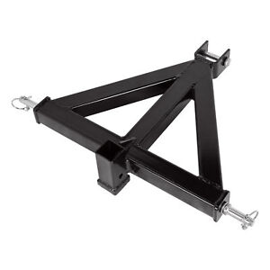 Steel 3 Point 2 Receiver Trailer Hitch Category 1 Tractor Tow Drawbar Adapter T