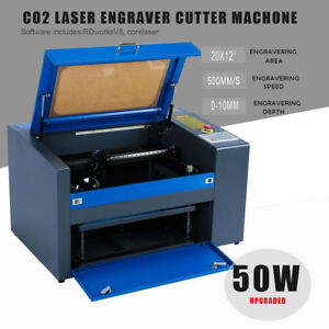 50w Co2 Laser Engraving Cutting Machine Engraver Cutter Usb Port 300 X 500mm