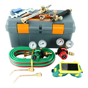 250 System Victor Type Gas Welding Cutting Tool Oxygen Acetylene Torch Regulator