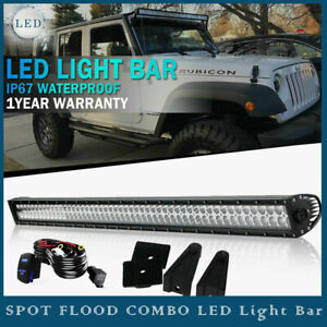 52inch 700w Led Light Bar Spot Flood Combo For Offroad Suv 4wd Ford F150 Atv Ute