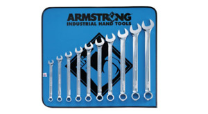 Standard Long Combo Wrench Set 12pt Full Polish 10pc Armstrong 25 637