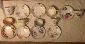 England Fine Bone China Cup Saucer Lot Of 7 Sets France
