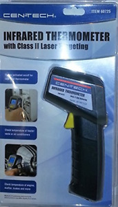 Infrared Thermometer With Class Ii Laser Targeting cen tech