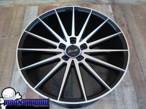 Set Of 4 20 Giovanna Verdi Black Machined Wheels Rims 20x9 20x10 5 5x112