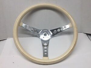 Vintage Superior Industries the 500 Rare White Steering Wheel 14 1 4