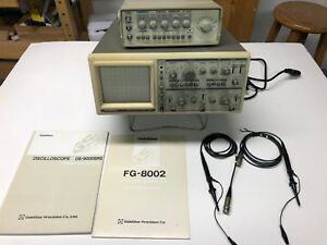 Goldstar Os904rd 40mhz Oscilloscope And Fg8002 Function Generator Combo