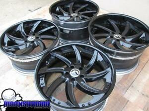 20 Forgiato Azioni Gloss Black Wheels Rims Mercedes Benz Clk Cls S class 5x112