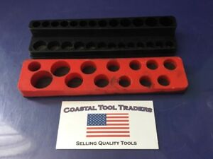 Matco Tools 2 Piece Mechanics Time Saver Magnetic Socket Holder Trays g98