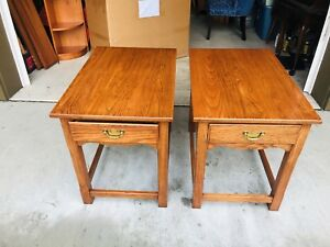 Beautiful Vintage Pennsylvania House Arts Crafts Mission Oak Side End Tables