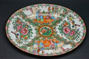 Antique Chinese Export Rose Medallion Tray 9 5 X 7 5 Made In China