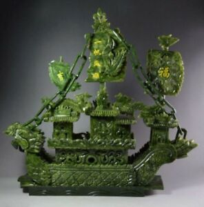 26 Green Jade Dragon Boat Hn66